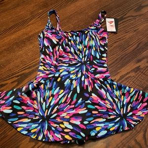 Maxine of Hollywood Skirted Swimsuit 12 New